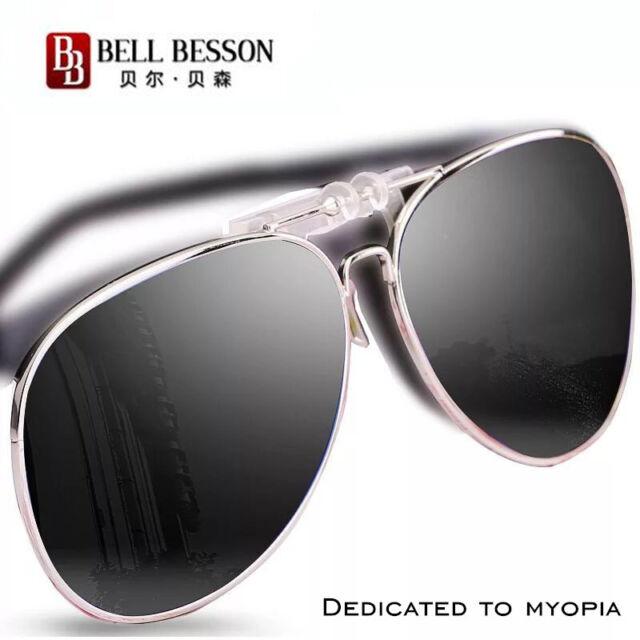 Grey Flip Up Clip On Sunglasses Polarized Lens UV400 Fishing Sports S//M//L