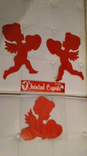 "2 77212 VNTG 12/"" CARDBOARD Beistle no Jointed Valentine Cupids PACKAGED 1982"