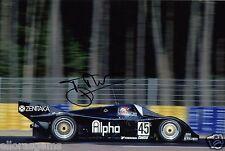 """Presentador de televisión coche conductor Tiff Needell foto firmada de mano 12x8"""" AC"""