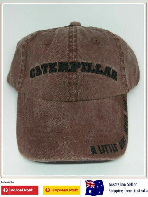 Caterpillar CAT Cap Hat LITTLE DIRT NEVER HURT USA Dozer Excavator Grader Trucks