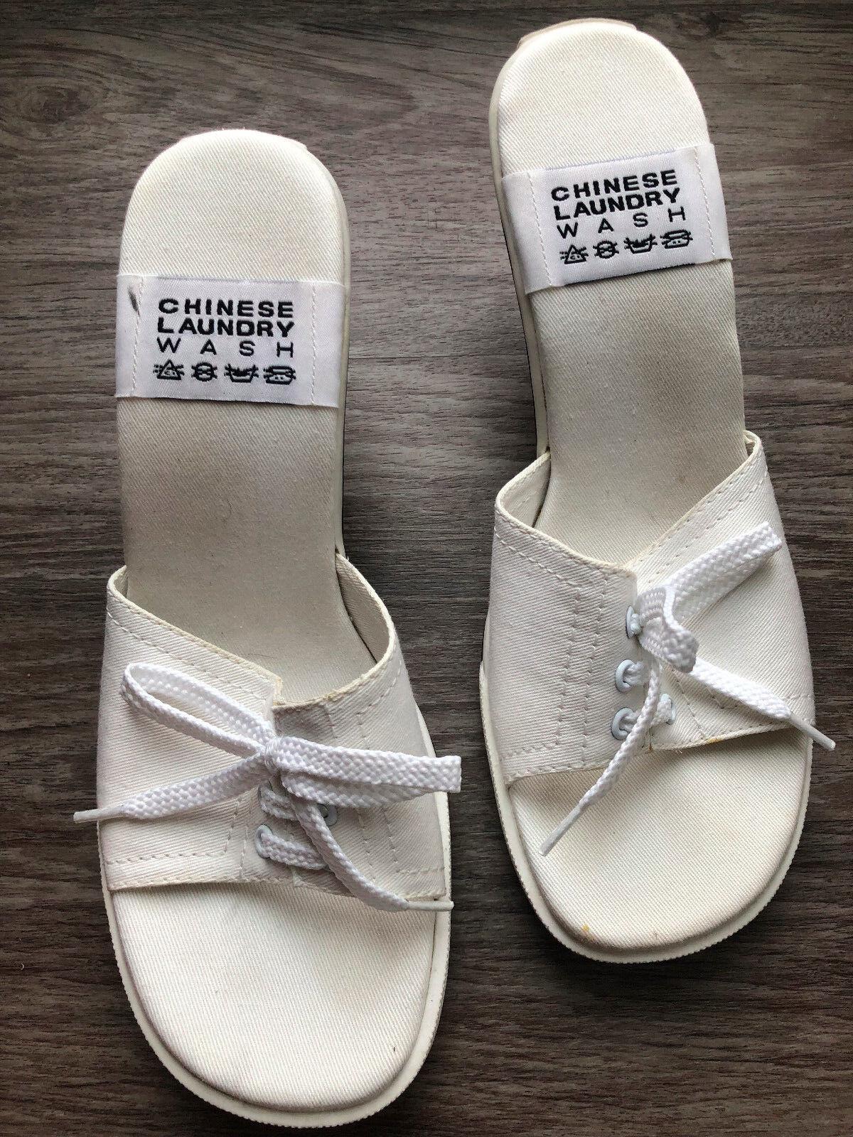 CHINESE LAUNDRY Women's White 'Cat Walk' Mule Sneaker NEW Like Sandals Size 7.5 NEW Sneaker 847244
