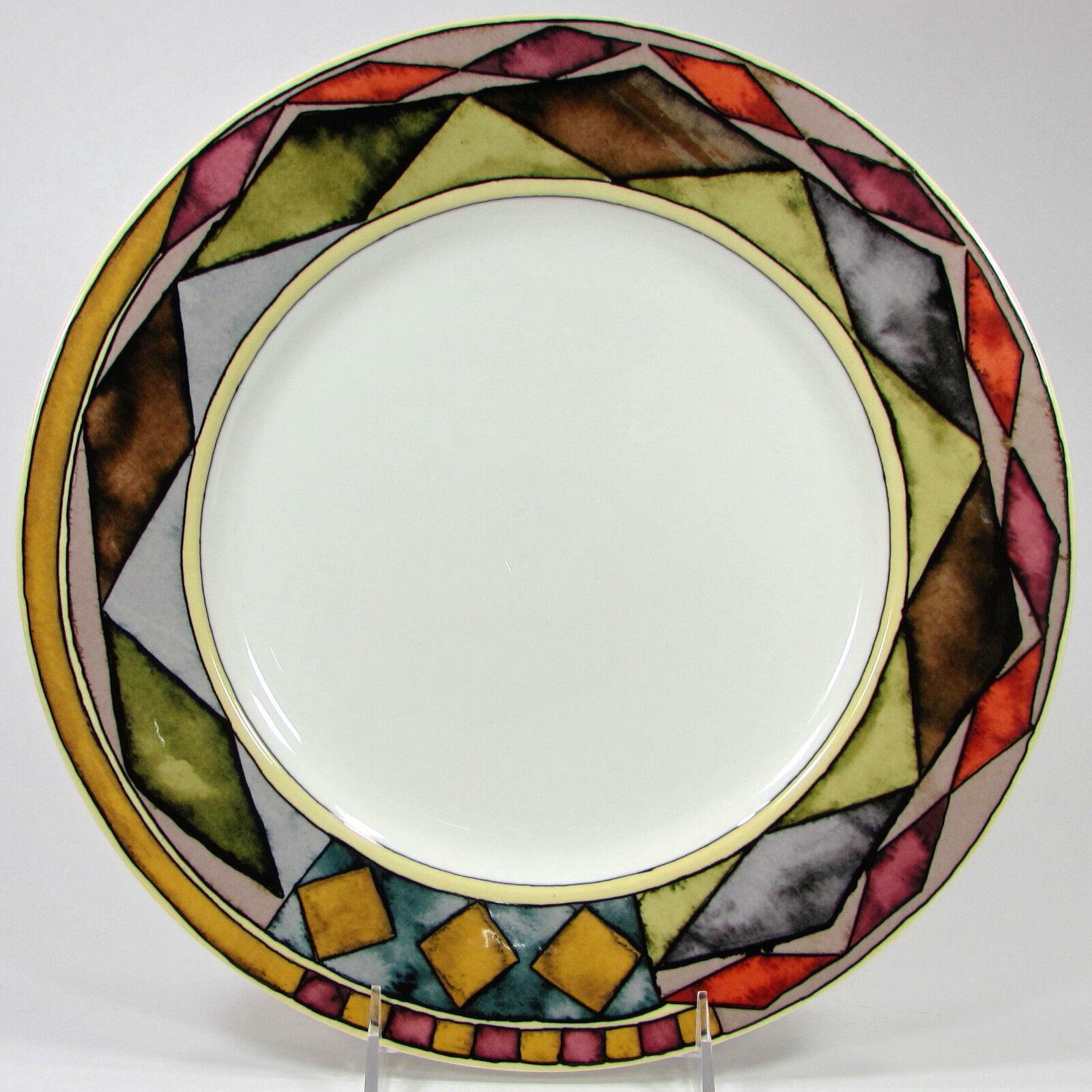 Sasaki PALAZZO 12  Chop Plaque Plat rond porcelaine Paula Zanger diamants Comme neuf