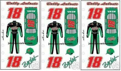 "Bobby Labonte #18 RACING NASCAR NEXTEL CUP SERIES 3/"" ROUND DECAL STICKER"