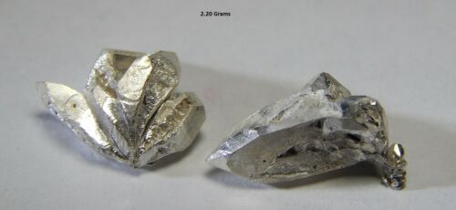 2 grams LOT of .999 Crystalline silver crystal nuggets 99.999/% Pure