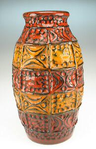 60er-Bay-Keramik-Bodo-Mans-Vase-Modell-60-20-space-age-wgp-Fat-Lava-pottery