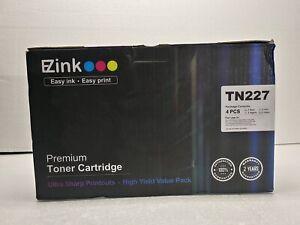 (4 pack) EZINK TN227 Compatible Toner Cartridge CMYK for Brother HL-L3210CW