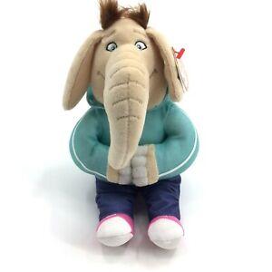 "✔️ New 9/"" Ty Beanie Babies Meena The Elephant Sing Movie Stuffed Animal Toy"