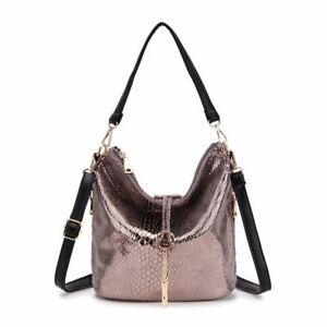 Leather Women s Shoulder Bag Small Tassel Handbag Tote Messenger ... ade21f1461823