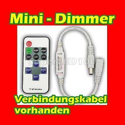 Mini Funk Dimmer Controller Regler mit Remote für LED Strip Streifen Band 5V~24V