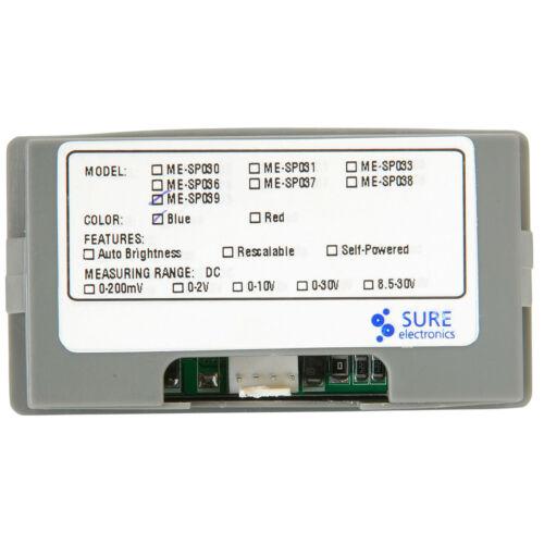 Sure ME-DV42331 Blue LED 7-30 VDC Panel Meter