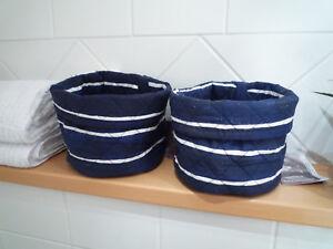 Badzubehör & -textilien Vornehm 2 Stück Korb Ikea Innehallsrik Blau-weiß Maritim Utensilo Aufbewahrung