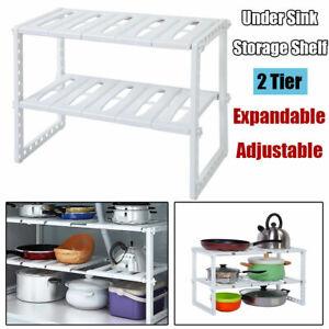 2-Tier-Sink-Rack-Under-Cabinet-Organizer-Storage-Expandable-Kitchen-Shelf-Holder