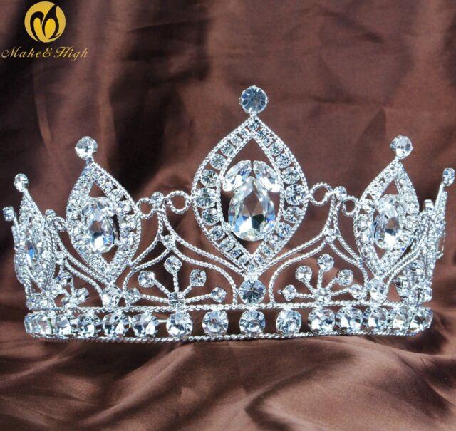 Girl Birdesmaid Tiara Headband Austrian Rhinestone Crown Bridal Hair Accessories