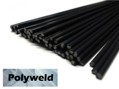 ABS Plastic Welding Repair Rods-20ft 20pk-Black-12in x 3mm