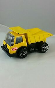 Details about #A1 Vintage Diecast Tonka Yellow Construction Gravel  HaulingTruck Made in Japan