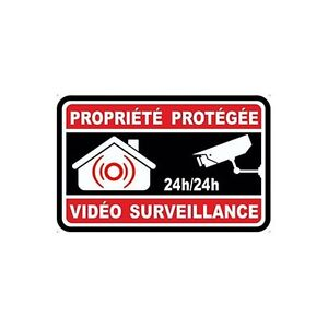 Autocollant-propriete-sous-video-surveillance-alarme-logo-n-8-sticker-5x5-cm