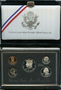 1992-Premier-Silver-Proof-Coin-Set-OGP-United-States-US-Mint