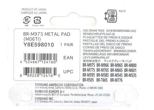 Shimano M06Ti M06 Ti Disc Brake Pads M9xx M800 M7XX M6XX M5XX..XTR XT SLX Deore