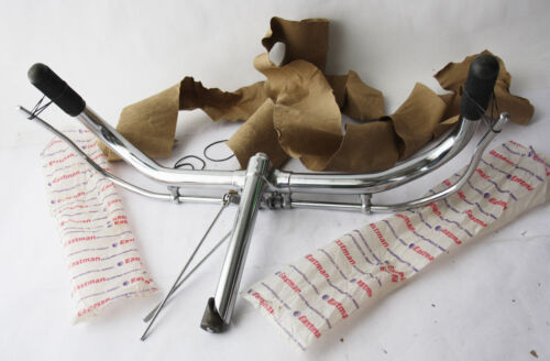 RARE OLD SCHOOL VINTAGE 70/'S EASTMAN CRUISER BICYCLE HANDLEBARS CHROME NEW NOS !