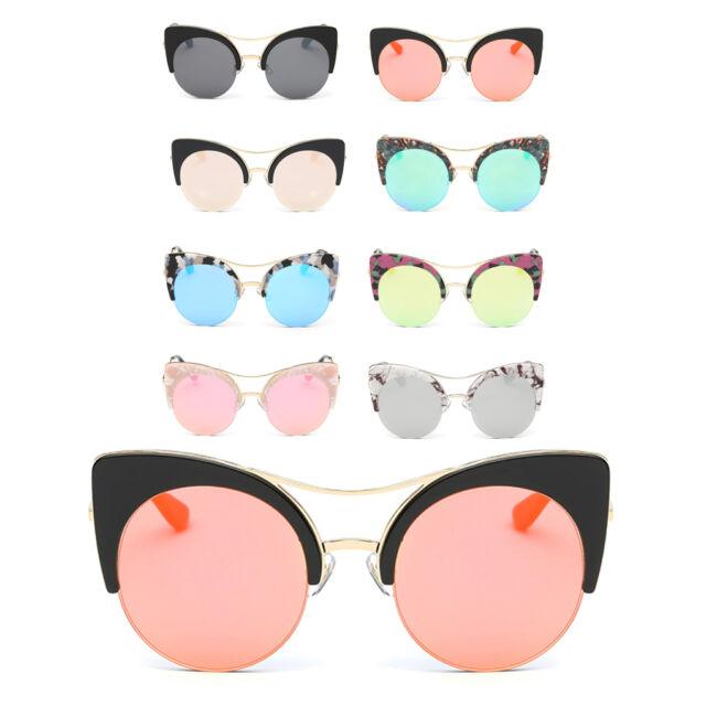 Women Classic Designer Vintage Outdoor Fashion Glasses Metal Frame Sunglasses