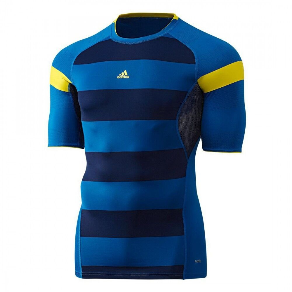 Adidas TechFit Preparation Nitrocharge Shirt Laufshirt Fitnessshirt Herren  | Moderne Muster