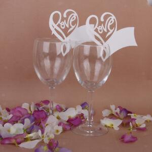 50x-Segnaposto-matrimonio-Segnabicchiere-forma-di-cuore-LOVE-Bomboniere