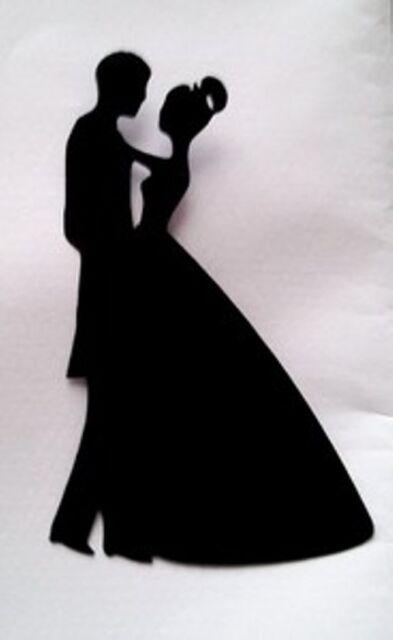 8 x bride groom wedding silhouette die cuts quality black card ebay 8 x bride groom wedding silhouette 3 die cuts quality black card junglespirit Gallery