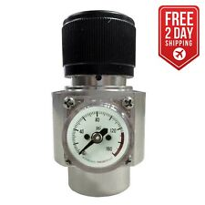 CO2 Regulator - Solid Aluminum Body 0-125 PSI - WRCO2