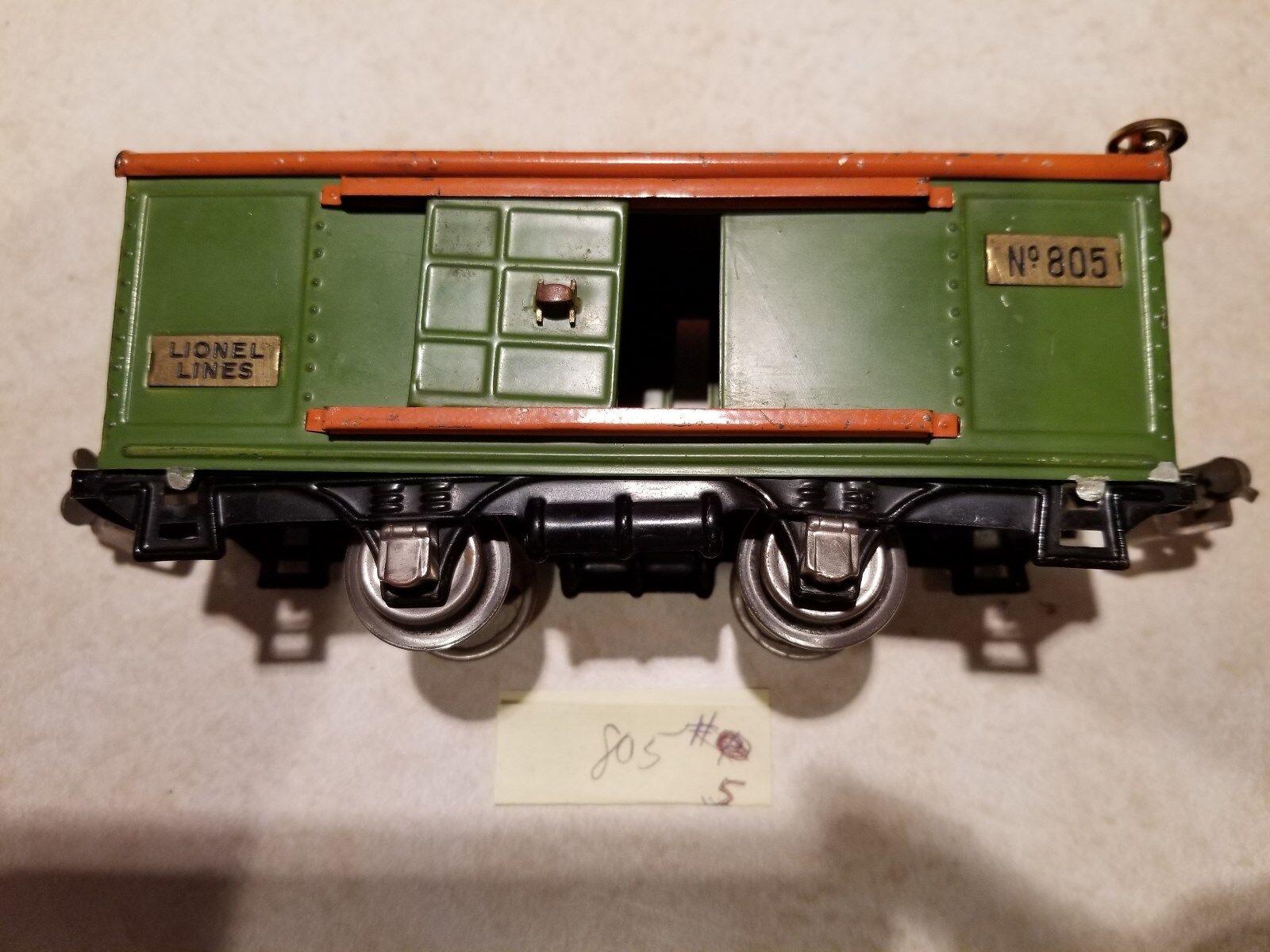 Lionel 805 Box Car 'O' Prewar 27-34 (JS)