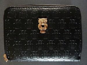 Eule Damen Geldbörse Portemonnaie Geldbeutel Clutch Schwarz Gold Owl Primark NEU