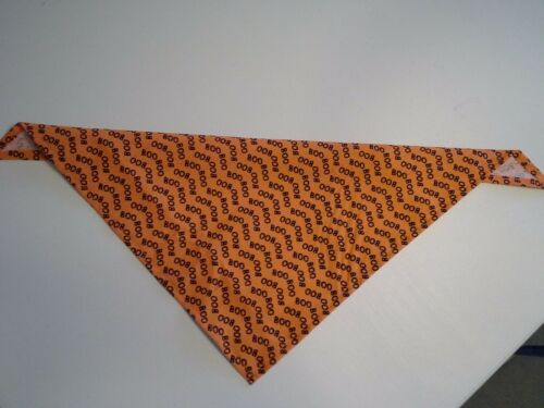 Dog Bandana//Scarf Tie On Autumn Halloween Orange Custom Made by Linda xS S M L