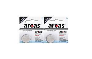 2x CR2032 DL2032 Knopfzellen Batterien Arcas 3V Herstellung 2021 extrem haltbar