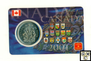 2001-Canada-50Cents-Coin-Card-Set-of-30-Cards-in-a-box-with-Magnets-OOAK
