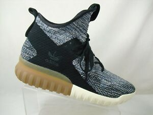 5a47a91acc2e NEW Adidas Tubular X PK Mens Primeknit Sneaker BY3145 Black Gum ...