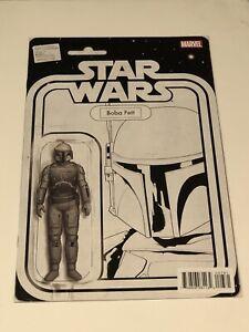 star wars boba fett action figure variant comic 7 bw sketch | ebay