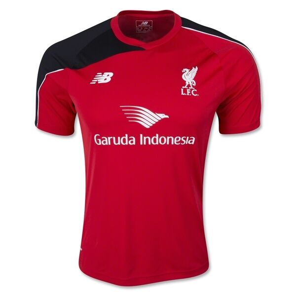 New Balance Liverpool FC  Official 2015 - 2016 Soccer Training Jersey  ROT