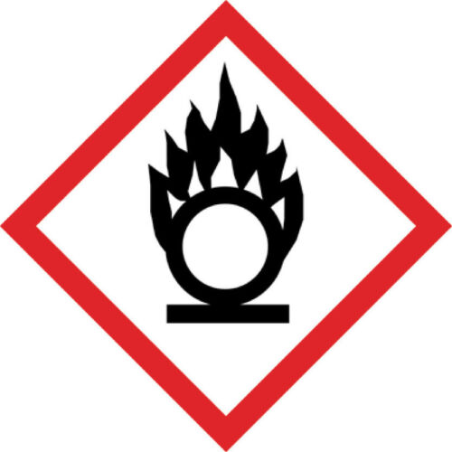 """1000 Stück Aufkleber GHS Kennzeichen /""""Flamme über Kreis/"""" Größen-//Materialwahl"""