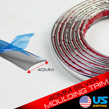 12ft 40mm Silver Chrome Self Adhesive Car Edge Styling Moulding Trim Strip