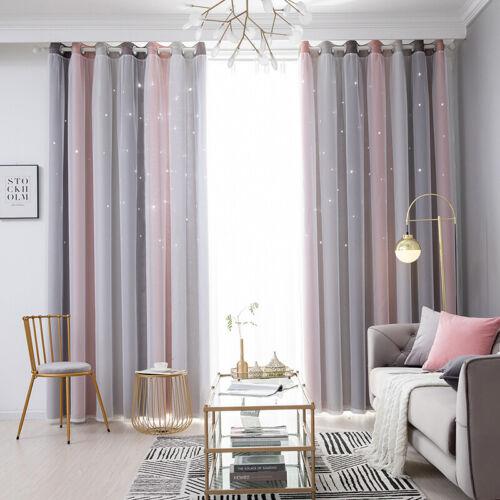 Vorhänge Blickdicht Doppelschicht Vorhänge Garn Tüll Gardinen Wohnzimmerdeko DE