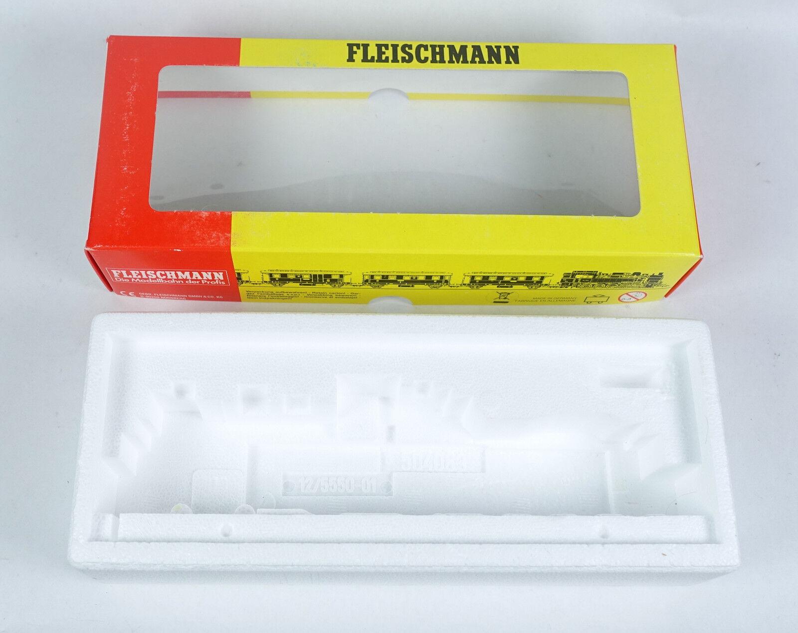 Fleischmann Scatola Vuota 1114 locomotiva BR 13 521 521 521 vuoto imballaggio OVP EMPTY BOX h0. 10a703