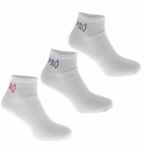 USA Pro Quarter Socks 3 Pack Womens White UK 4-8 EU 37-42 T333-1
