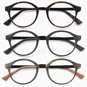 GAWK-Metal-Temple-Arm-Round-READING-GLASSES-Wood-Tortoiseshell-1-0-1-5-2-2-50-3