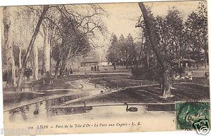 69-cpa-LYON-Parc-de-der-Kopf-Gold-Le-parc-Swan-H9146