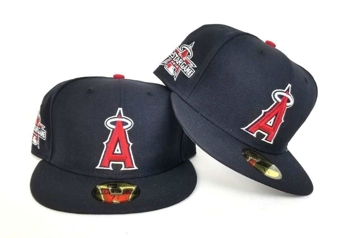 48da27e614f90 New Era Navy Blue Los Angeles Angels 2010 All Star Game Side Patch Fitted  hat