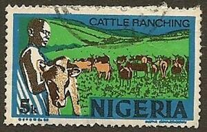 Nigeria-Scott-294-Cattle-Ranching-Series-on-Industries-5k-Used-1974