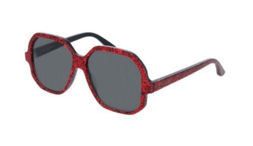 Womens da Occhiali Sl132 Saint sole Glitter 006 Red Oversized Ottagonal Laurent Paris Yfvgyb76