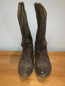 Details about JUSTIN Womens Western Cowboy Boots Brown Leather Sz 8C Broken  in Good Life Left