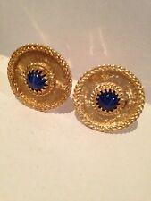 14K Solid Gold Sapphire Cufflinks 15.8Grams