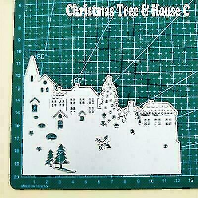 Christmas Greeting Card Metal Cutting Dies Scrapbook Photo Album Crafts Stencil