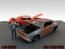 MECHANIC PETE FIGURE FOR 1:24 SCALE DIECAST MODEL CARS BY AMERICAN DIORAMA 77728
